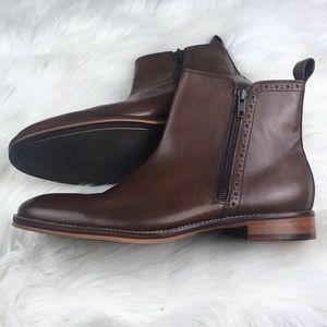 Johnston & Murphy Conard Double Zip Boot 11